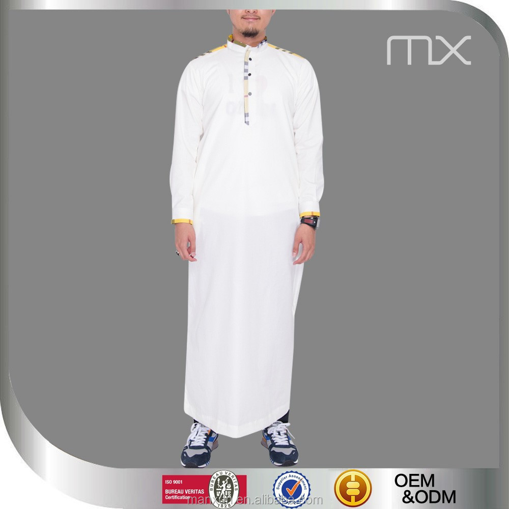 2015 High Quality men arab thobe white kurta mens pathani kurta muslim men clothing men's abaya