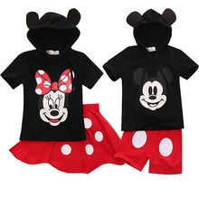 2016 Baby Boy Girls Kids Clothes Tops T shirt Dress Pants Outfits