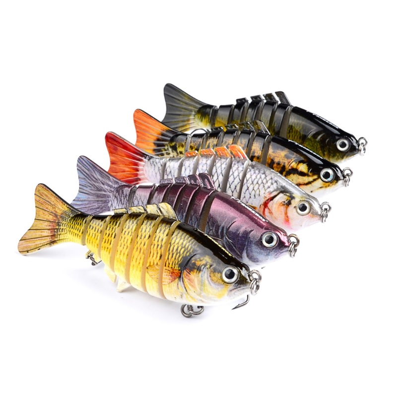 Multi Fishing Lure Jointed 15.5g 10cm Swimbait Bass Perch Pike Roach Trout Bionic Lifelike Jointed Bait Wobblers, Five colors