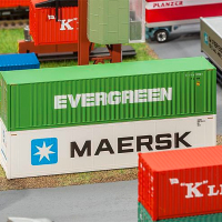 HO scale Model Train 40 feet container 1: 87 model
