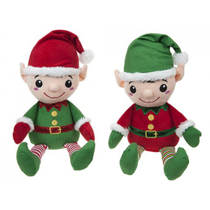 Promotional Cute Cartoon Christmas Elf Stuffed Gifts Plush Toy