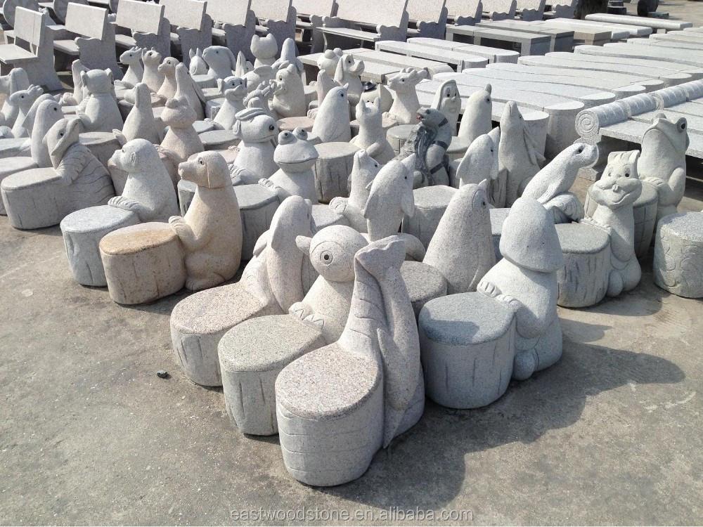 barato banco de patio jardn de piedra