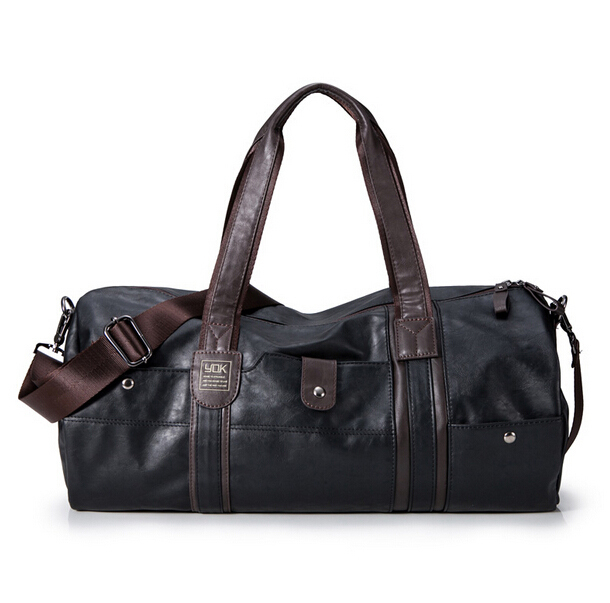 6008ed0d493 Get Quotations · 2015 New Designer Brand Fashion Leather Gym Bag for Men  High Quality Sports Duffel Fitness Bag
