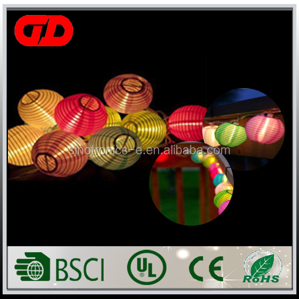 Multi-Colored Color Cloth Lantern LED String Lights For Wedding, Christmas Party