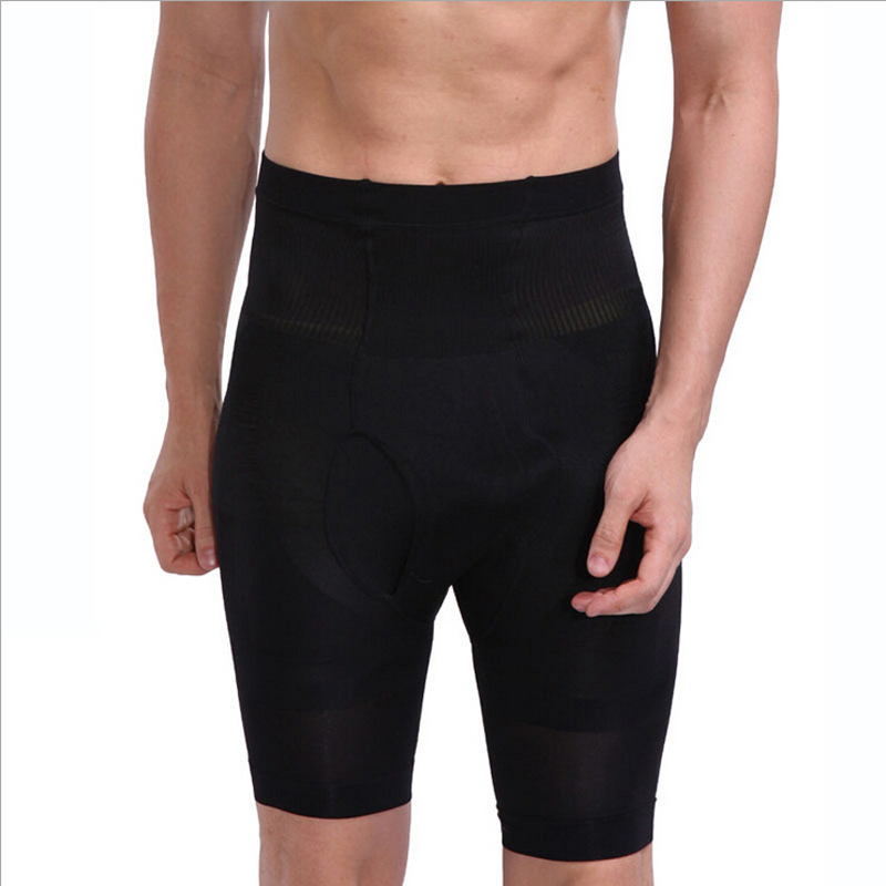 Mens Slimming Shorts High Waist Pants Body Shaper Men' s Thin Carry Buttock Thin Leg Fifth Pants Tighten The Dewlap No.465