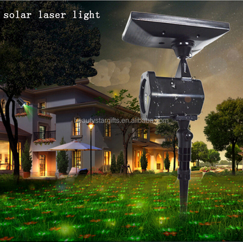 Solar powered laser christmas decoration light RG laser light outdoor waterproof Made in China factory