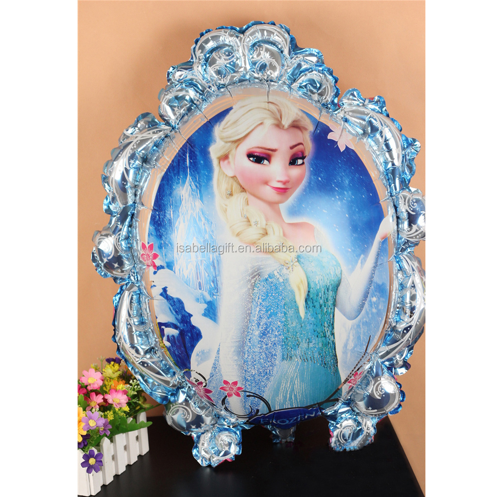 OEM CE-approved Anna elsa frozen cartoon character helium balloons, dbcy balloons helium for kids birthday party decorations
