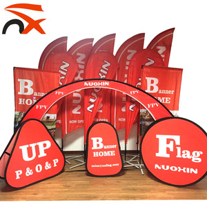 Portable flying promotion Advertising 110g knitted polyester printed beach teardrop flag