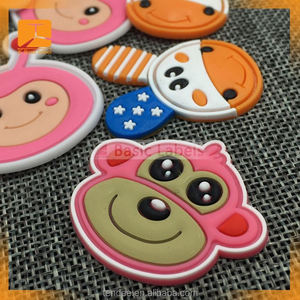 Cartoon pvc led patch for child t shirt, clothes light with pvc patch