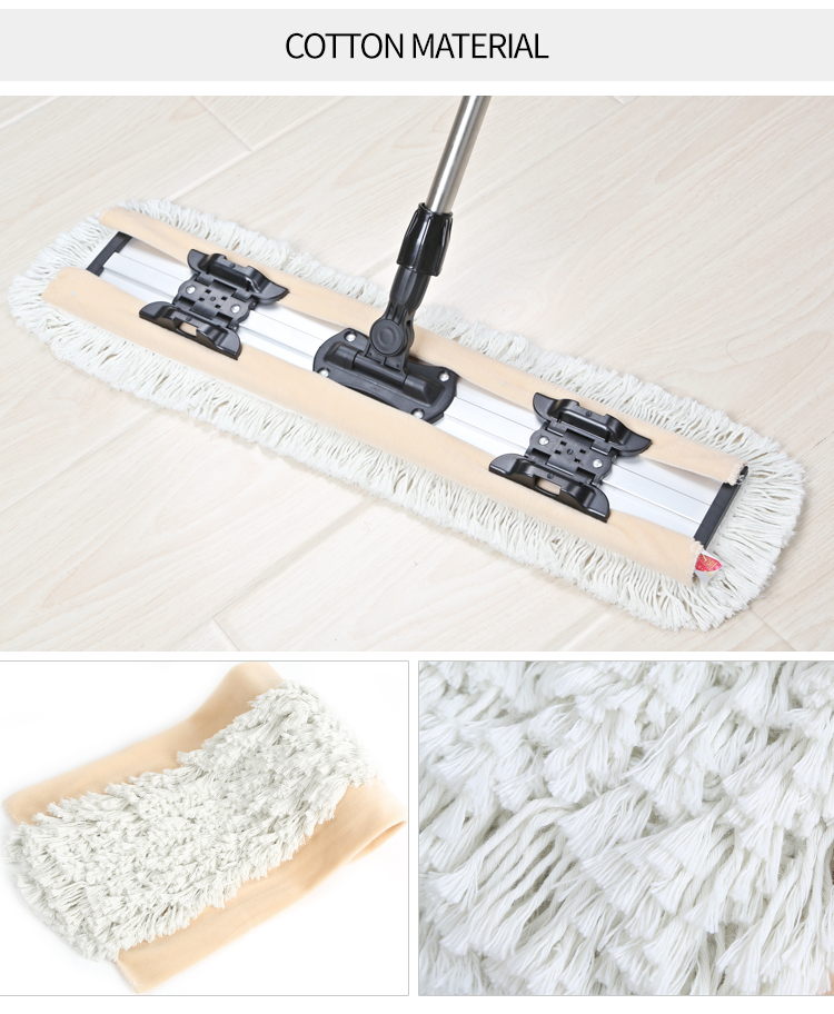 Maryya Cotton Dust Mop Head 60CM Flat Mop Spare Parts Microfiber Refill