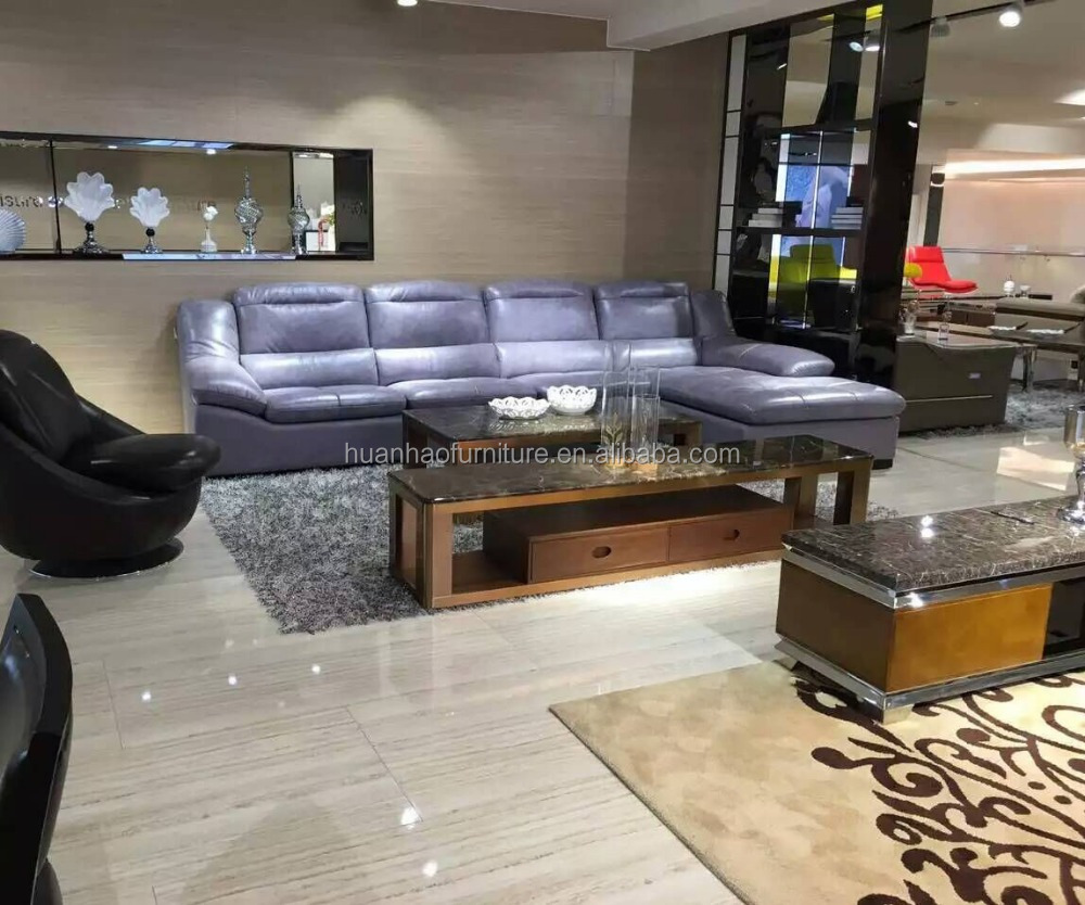 S118 Latest modern leather sofa designs for drawing room