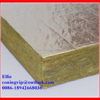 Rock wool board with aluminum foil for commercial building for Rocks all insulation
