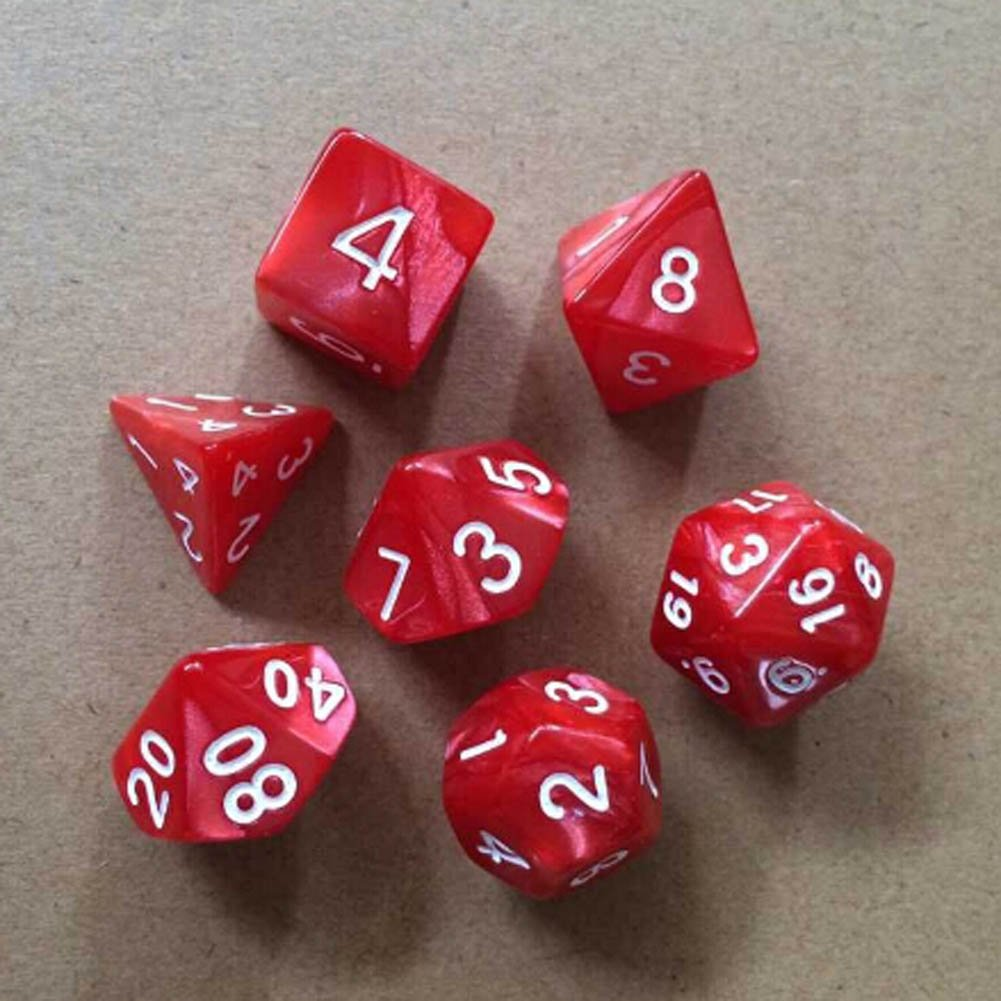 Buy Polyhedral Dice Shape 7 Pieces with 4 Sided, 6 Sided, 8