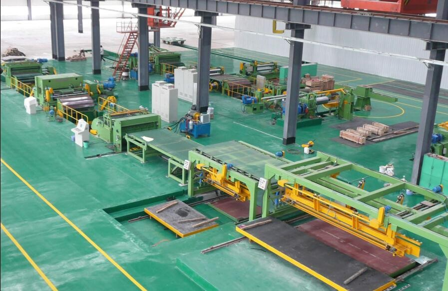 China High Speed Steel Coil Flying Shear Cross Cut Line