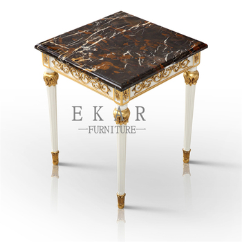 Small Vintage High Quality Clic End Table Marble Top Corner And Side Sofa