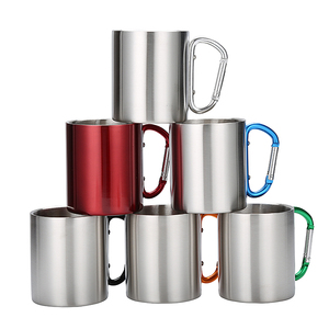 Wholesale hot selling stainless steel coffee mug, factory custom Eco-friendly Promotional Gift Plastic Coffee Mug Cup