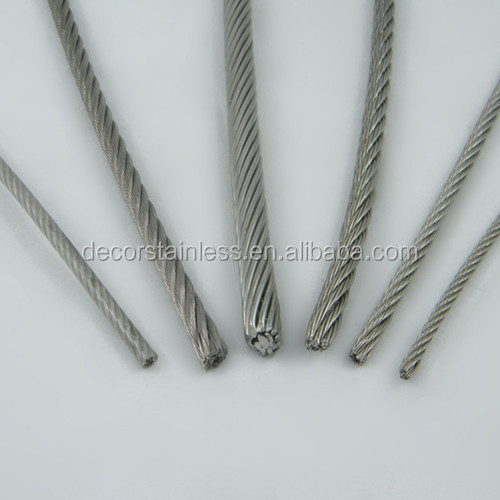 19*7 wire rope 4mm