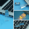 3D logo engraving crystal USB flash drive top selling products 2015 for new year gift