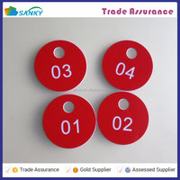 5cm Round Plastic Coat Room Check Tags