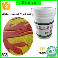 Water based high density ink for tshirt screen printing