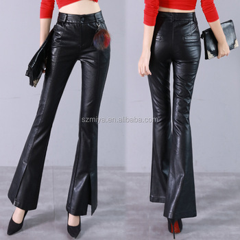 ab32d16646c80 Wholesale fashion womens tight pants sexy faux leather high waist leggings  stretch PU leather pants