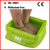 Lemon green PVC custom inflatable footbath for adults