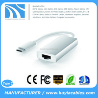KUYIA USB 3.1 Type-C to RJ45 Ethernet Network Port Adapter for New MacBook 12