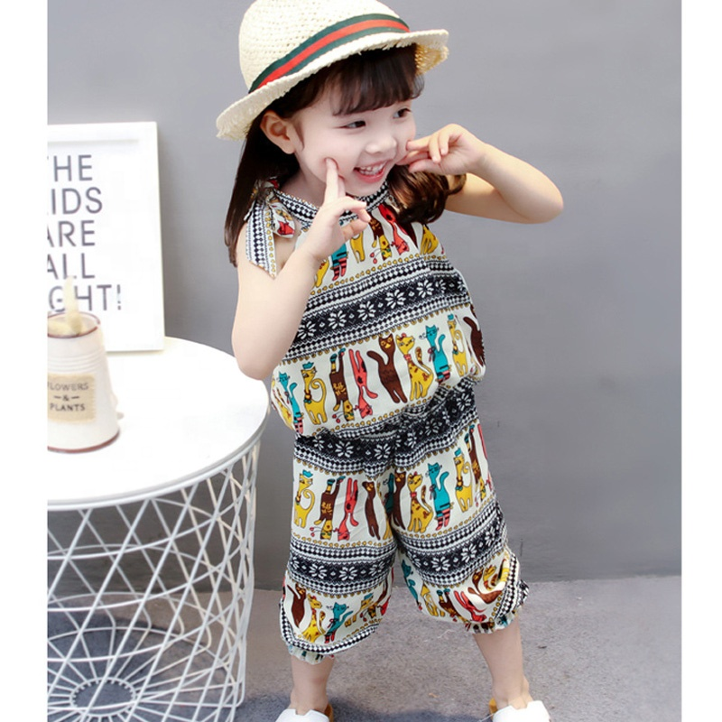 2019 Fashionable Casual Toddler Baby Girls Floral Clothing Set Children T-shirt+Trousers Pants Clothes Outfits 2Pcs/Set фото