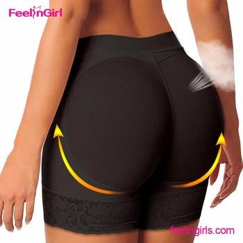 Ass girl with open crotch panties amusing