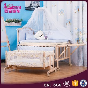 solid wood baby crib / baby cot / infant bed MB-998GY
