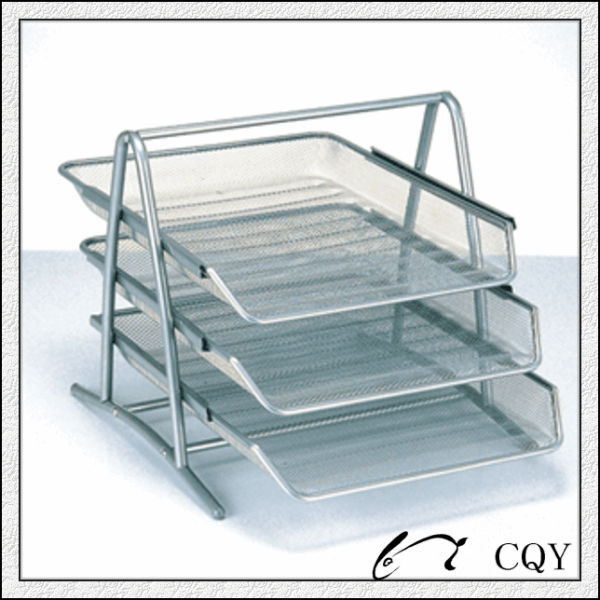 Office Supplies Metal Mesh Desk Paper Doent Tray With Three Tier Product On Alibaba