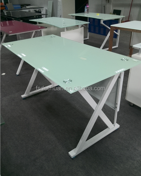 Office Furniture Glass Table Iron Leg With Cheap Price Buy