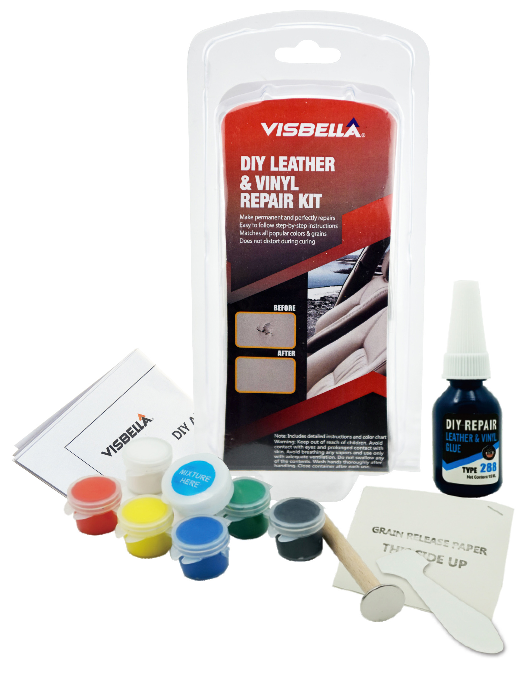 Visbella Leather Repair Compound Set For Couch,Sofa,Car Seat,Jacket And  More - Buy Leather Repair Compound,Leather Repair Set,Leather Repair  Product ...