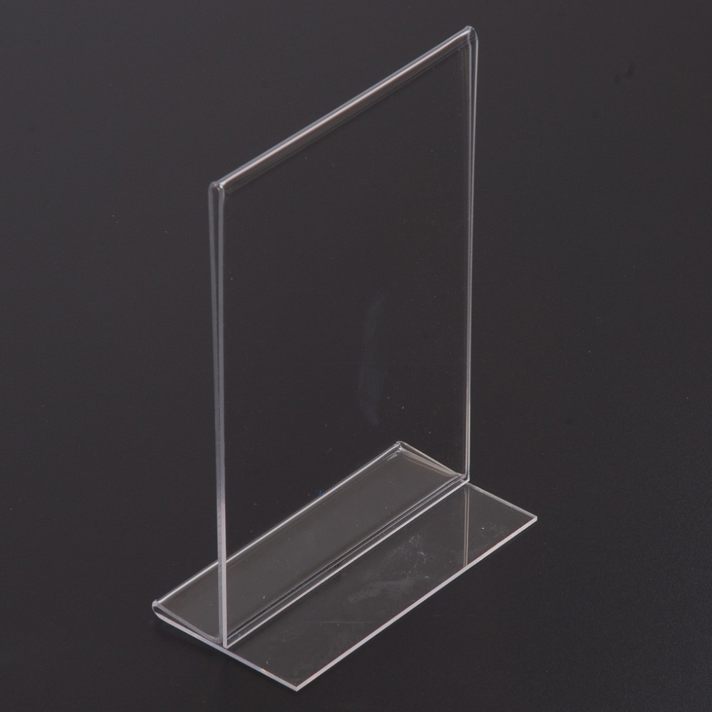 A4 Acrylic Sign Holder Paper Holder, Tabletop Free Standing A4 Acrylic Display Stand