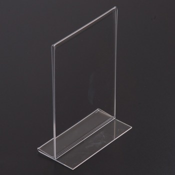 A4 Acrylic Sign Holder Paper Holder Tabletop Free Standing