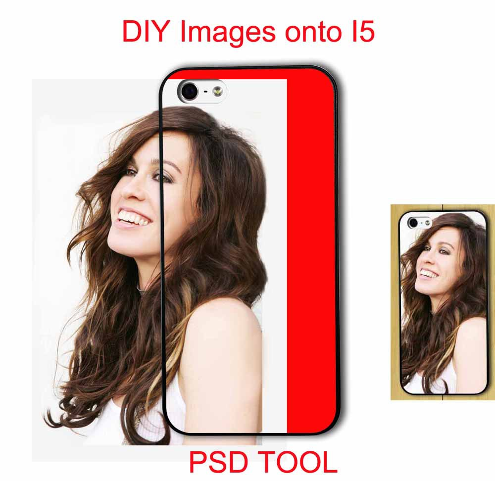 A PSD программное средство для DIY впечатление рисование с любое изображение для iPhone 5 чехол обложка бесплатная доставка