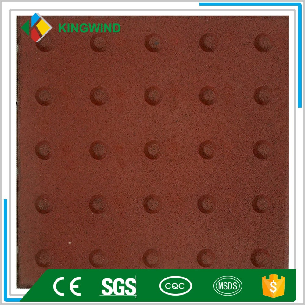 PVC and Rubber Warning Blind Tactile Guiding Studded Paver Tiles