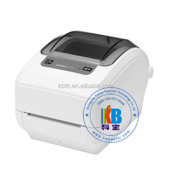 USB black and white adhesive clothing garment iron on label printing zebra gk420T GX430T clothing label printer