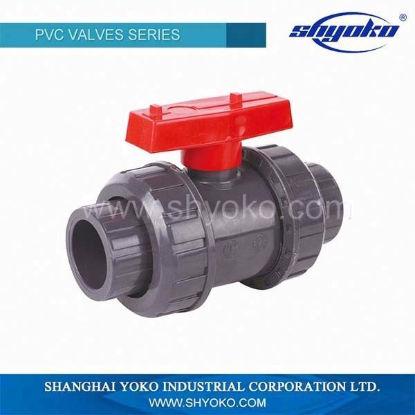 top quality Yoko pipe fittings double union ball valve connector