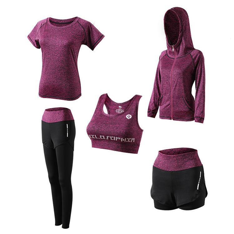 Wholesale Custom Fitness Wear Women Sportswear 5 sets
