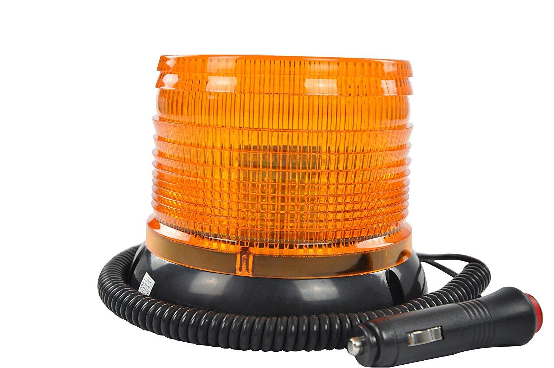 Warning lights High Intensity Yellow(Amber) Revolving LED Emergency Vehicle Magnetic Mount Strobe and Rotating Beacon Warning Light with 12v Cigarette Lighter Plug
