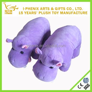 2016 2in1 Purple Hippo Stuffed Animal Plush Toys Cushion