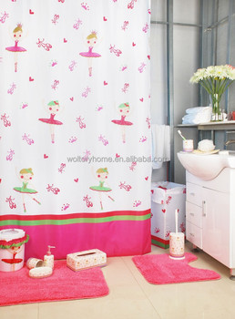 Flower Fairy Bathroom Set Shower Curtain With Bath Rug Sets