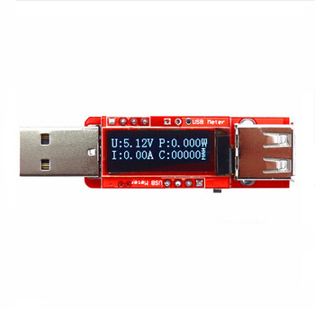 OLED Digital Mobile USB Power Capacity Meter With Memory Function /USB voltammeter/ No shell