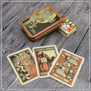 Customized Professional Cardboard Printing Plaper Double Packs Of Paper Playing Cards With Metal Boxes