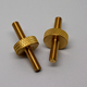 Customized double thread knurled brass metal cnc lathe machined parts