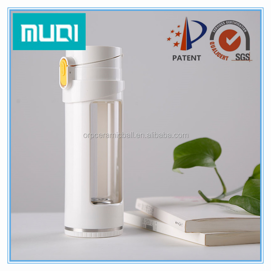 glass ORP alkaline water bottle