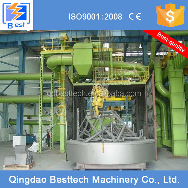 Q76 rotary automatically sandblast machine