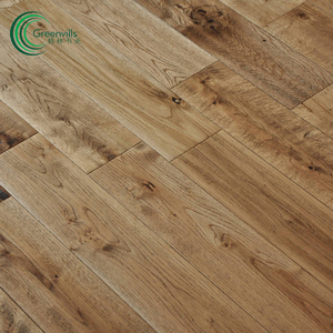 Greenvills 18mm thickness solid wooden floor white oak light gray natural look hardwood flooring
