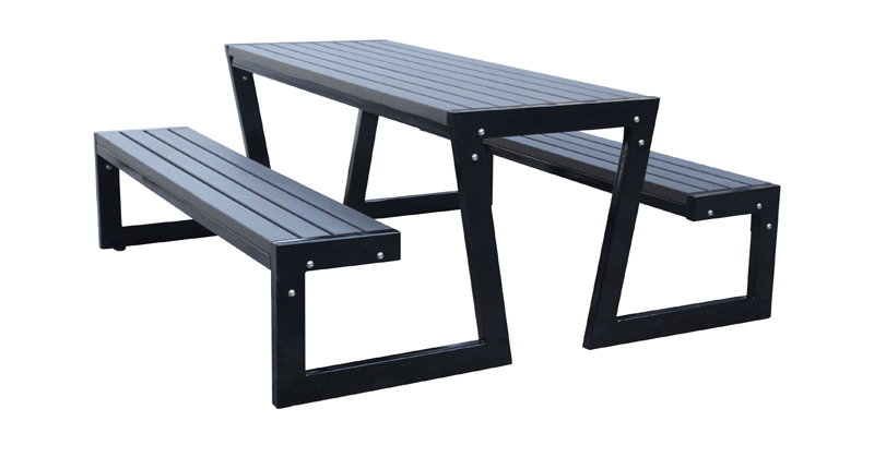 6 ft faux wood composite picnic table